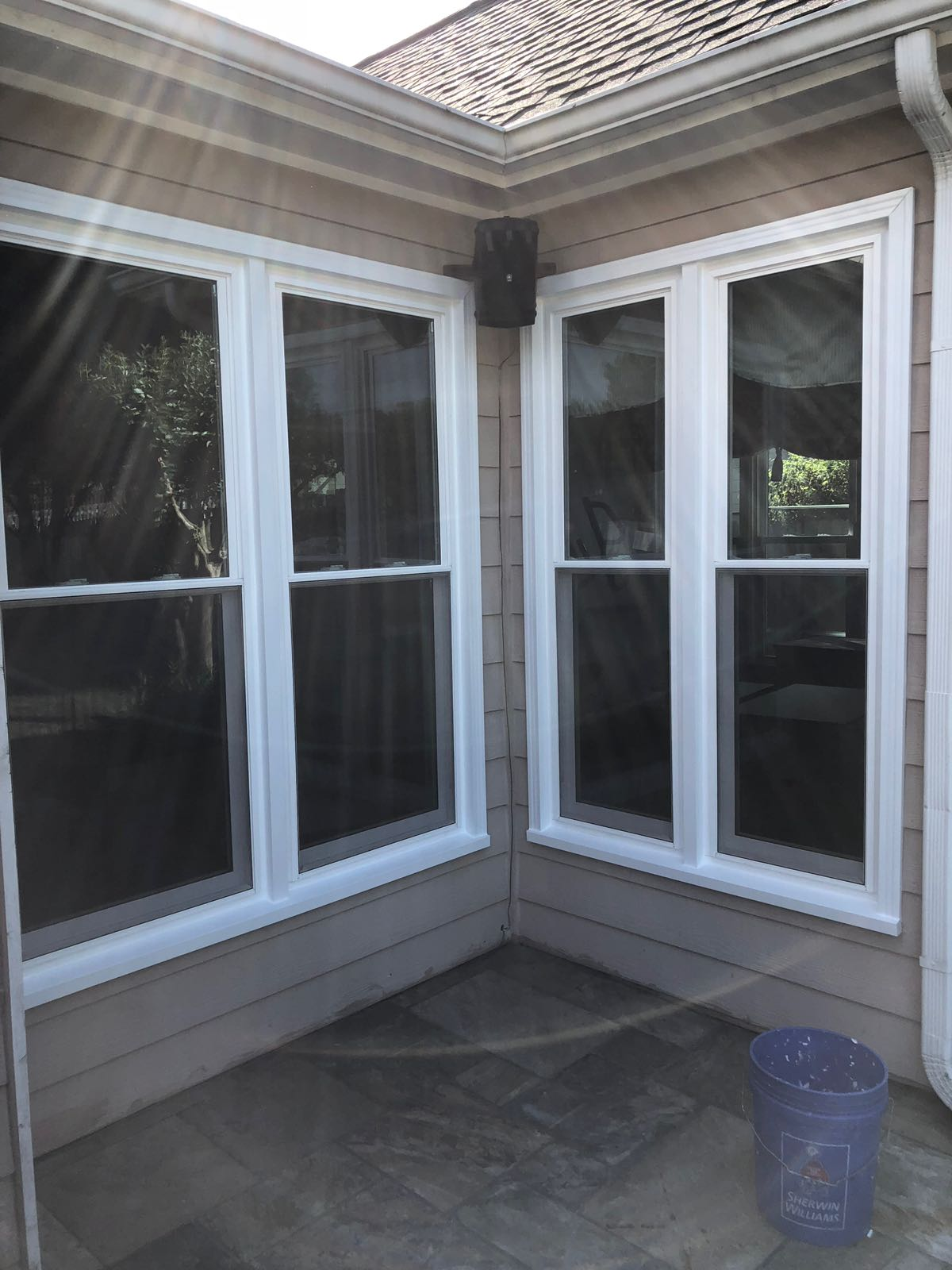 The Window Source Of Atlanta Installed 6000 Series Vinyl Replacement Windows And Cing In This Brink Ranch Custom Exterior Is A Process Which