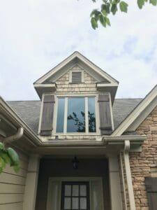 Beige vinyl windows
