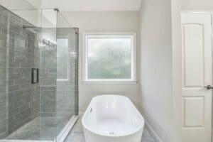 Rain glass bathroom window